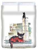 The Devils Advocat Duvet Cover