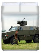 The Dingo II In Use By The Belgian Army Duvet Cover