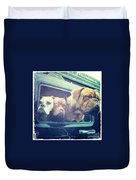 The Dog Taxi Is A Hummer Duvet Cover by Nina Prommer