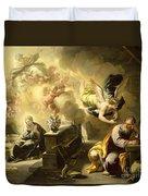 The Dream Of Saint Joseph Duvet Cover by Luca Giordano