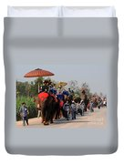 The Elephant Parade Duvet Cover