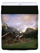 The Elizabeth Parker Hut, A Log Cabin Duvet Cover