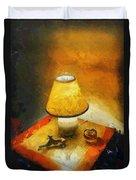 The Evening Lamp Duvet Cover
