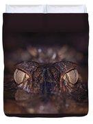 The Eyes Of A Crocodilian Duvet Cover
