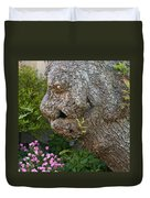 The Face In The Tree Duvet Cover