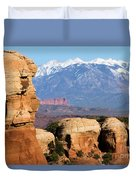 The Face Of Arches Duvet Cover