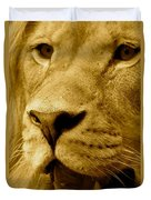 The Face Of God In Sepia Tones Duvet Cover