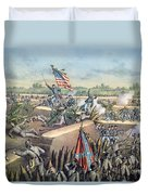 The Fall Of Petersburg To The Union Army 2nd April 1965 Duvet Cover