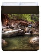 The Falls Virgin River Duvet Cover