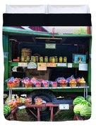 The Farmers Market Duvet Cover