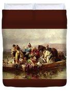 The Ferry  Duvet Cover by Johann Till