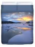 The Fjord Of Tjeldsundet In Troms Duvet Cover