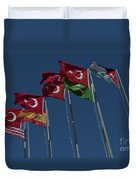 The Flags Of The Participating Nations Duvet Cover