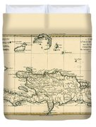 The French And Spanish Colony Of The Island Of St Dominic Of The Greater Antilles Duvet Cover by Guillaume Raynal
