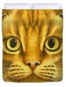 The French Orange Cat Duvet Cover