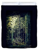 The Gate In The Grotto Of The Redemption Iowa Duvet Cover