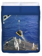 The Gemini-3 Spacecraft Is Hoisted Duvet Cover
