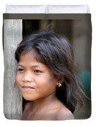 The Girl In The Plastic Earrings  Duvet Cover
