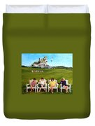 The Girls At Castle Hill Duvet Cover