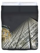 The Glass Pyramid And The Louvre At Dusk Duvet Cover