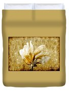 The Golden Magnolia Duvet Cover by Andee Design