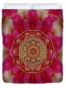 The Golden Orchid Mandala Duvet Cover