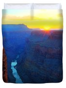 The Grand Canyon Solitude At Toroweap Duvet Cover
