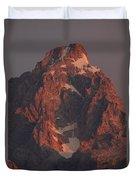 The Grand Teton At Sunrise Duvet Cover