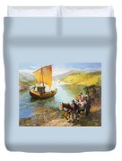The Grape-pickers Of Portugal Duvet Cover