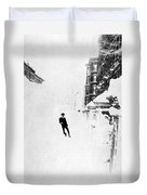 The Great Blizzard, Nyc, 1888 Duvet Cover by Science Source