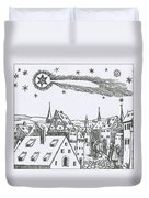 The Great Comet Of 1556 Duvet Cover
