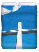 The Great Cross - Risen Duvet Cover