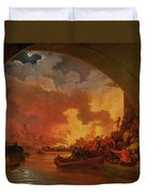 The Great Fire Of London Duvet Cover