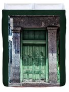 The Green Door In The French Quarter Duvet Cover