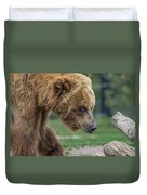 The Grizzly In Spring Duvet Cover