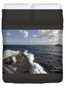 The Guided-missile Destroyer Uss Nitze Duvet Cover