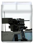 The Gun Mounted On Top Of The Dingo II Duvet Cover