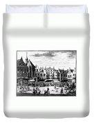 The Hague: Market, 1727 Duvet Cover