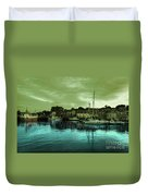 The Harbour At Padstow Duvet Cover