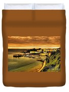 The Harbour At Tenby  Duvet Cover