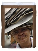 The Hat Lady Costa Rica Duvet Cover