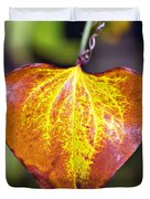 The Heart Of Autumn Duvet Cover