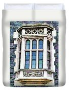 The Heritage Windows Of The Teachers' College Duvet Cover