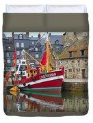 The Historic Fishing Village Of Honfleur Duvet Cover
