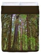 The Hoh Rain Forest Duvet Cover