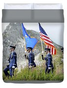 The Honor Guard Posts The Colors Duvet Cover