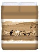 The Horse Herd Duvet Cover