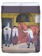 The Horse Mart  Duvet Cover by Robert Polhill Bevan