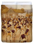 The Hounds Began Suddenly To Howl In Chorus  Duvet Cover