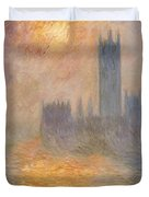 The Houses Of Parliament At Sunset Duvet Cover